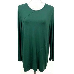 J Jill Wearever Collection Long Sleeves Tunic L